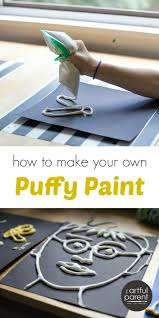 how to make diy puffy paint for kids with a simple recipe a step