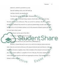 shakespeare character analysis richard iii essay text