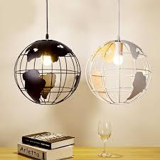 sphere lighting fixture. Retro Indoor Lighting Vintage Pendant Lights Globe Iron Cage Lampshade Warehouse Style Light Fixture Scandinavian Lights-in From Sphere