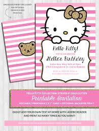 Hello Kitty Invitation Hello Kitty Party Invitations Pink Gold Glitter
