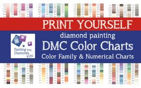 color chart print yourself 2 in 1 dmc color chart diamond painting drill color charts dmc color card