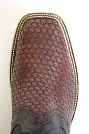 hand tooled basketweave boots