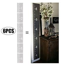 Reusable Growth Chart Stencil Yznlife 6ft Growth Chart Ruler Stencil Reusable Ruler Template Diy Craft Ruler Kids Height Ruler Stencil On Wood For Home Farmhouse Decoration