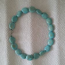 authentic turquoise stone necklace necklace 0
