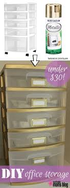 storage ideas for office. give your plastic storage drawers a facelift with spray paint ideas for office
