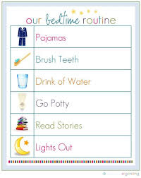 My 3 Yr Old Loves This Checklist Each Night We Just Printed