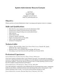 Sample Resume System Administrator Perfect Resume