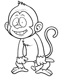 Color Book Printable Coloring Book Monkey Cute Baby Monkey Coloring