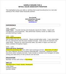 10 Sample Sales Resume Templates To Download Sample Templates