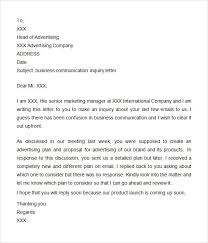 Business Communication Letters Pdf 10 Inquiry Letter Samples Printable Word Pdf Formats