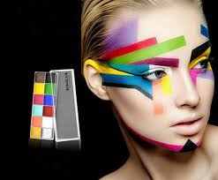 12 colors professional makeup face deco painting kit for ideal