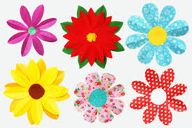 Paper Flower Folding Folding Paper Flowers 8 Petals Kids Crafts Fun Craft