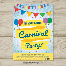 Free Carnival Poster Template Colorful Carnival Poster Template Vector Free Download
