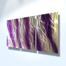 purple metal wall decor metal wall art decor abstract contemporary modern by living room small space
