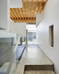 Modern Interiors Of Contemporary House With Green Roof And Unique - Contemporary house interiors