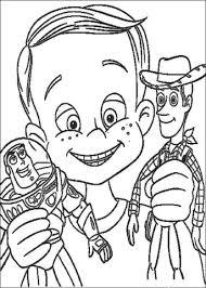 Disegno Di Andy Ha Buzz Lightyear E Woody Da Colorare Disegni Da