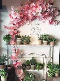 Tissue Paper Flower Wall Art Diy Tissue Paper Flowers Tutorial Art Room Pinterest Paper