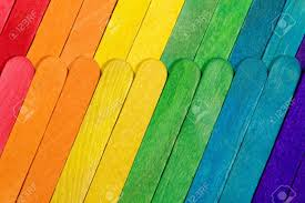 Coloured Paddle Pop Sticks