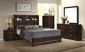 modern wooden bedroom furniture. roundhill furniture montana modern 5piece wood bedroom set with bed dresser mirror wooden