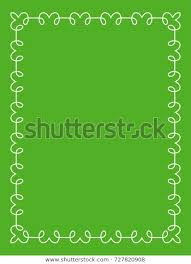 Green Border Frame Book Cover Vector Stock Vector Royalty