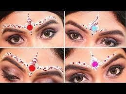 bengali bridal chandan design wedding makeup tutorial easy bindi designs in 2018 bengali bridal design