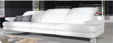 white italian furniture. White Italian Leather Sofa | Bonners Furniture