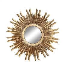 round mdf gold sunburst mirror
