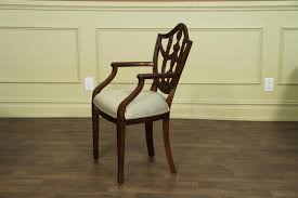 Solid Mahogany Shield Back Dining Room Chairs - Shield back dining room chairs