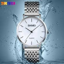 <b>SKMEI</b> Luxury Quartz <b>Women</b> Watch <b>Simple Style</b> Stainless Steel ...