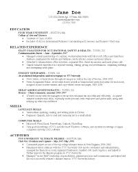 Resume For Recent College Grad Resumes For Recent College Grads