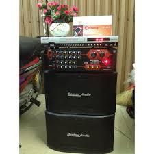 Giá bán Dàn karaoke gồm: Đầu karaoke, Amply Boston và Cặp loa Boston gỗ  tặng Mic