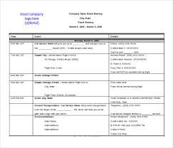 Travel Itinerary Template Itinerary Template Word Great Google Docs ...