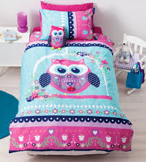 Pretty Owl Quilt Cover Set   Girls, Bed linen and Double bed size & Pretty Owl Quilt Cover Set Adamdwight.com