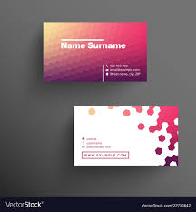 business card tamplate modern business card template with haxagons