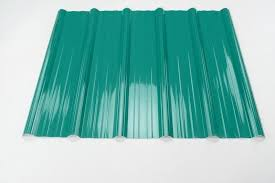 one layer coloured corrugated plastic roofing sheets for house tziod style