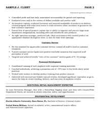 Resume Samples For Retail Best Resume Format For Retail Store Manager performance profile 11