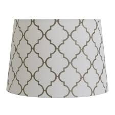 drum lighting lowes. allen + roth 9-in x 13-in white with gray embroidery fabric drum lighting lowes