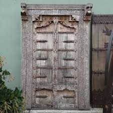 antique indian door with surround circa 1900 beautiful old artisan carved teak wood with intricate