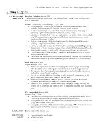 It Project Manager Resume Template Senior Construction Samples