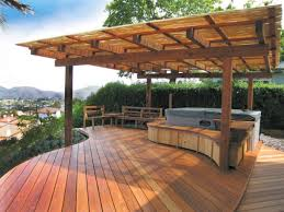 patio deck designs hot tub