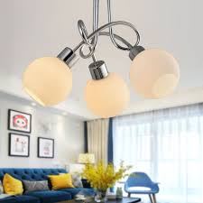3 light chrome iron modern chandelier with glass shades hkc31391 3