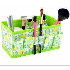 cosmetic storage box make up organizer folding desktop dressing jewelry storage box small bag makeup basket 18 10 10cm in storage bo bins from home