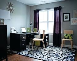 curtains for home office. Purple Curtains For Living Room Transitional Home Office White Windows Wooden Chairs Motif Cushion C