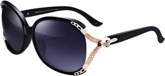 Oversized Womens Designer Sunglasses Womens Designer Sunglasses Polarized Uv Protection Small Face Fashion Ladies Oversized Shades With Bling Rhinestone