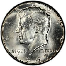 1960 Half Dollar Value Chart 1967 Kennedy Half Dollar Values And Prices Past Sales