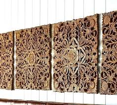 white carved wood wall decor uk panel art carving