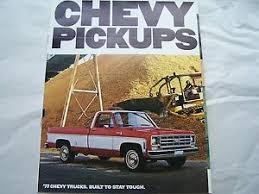 1977 chevy pickup truck owners sales brochure in spanish original | eBay