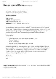 Internal Memo Samples Inter Office Communication Letter Letter Of Notice Inter Office