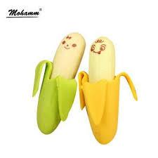 Eraser <b>Cute Banana</b> Rubber Pencil <b>2pcs</b> Toy Kids Novelty Children ...