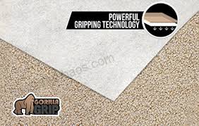 gorilla grip original area rug gripper pad for carpeted floors made in usa size 3